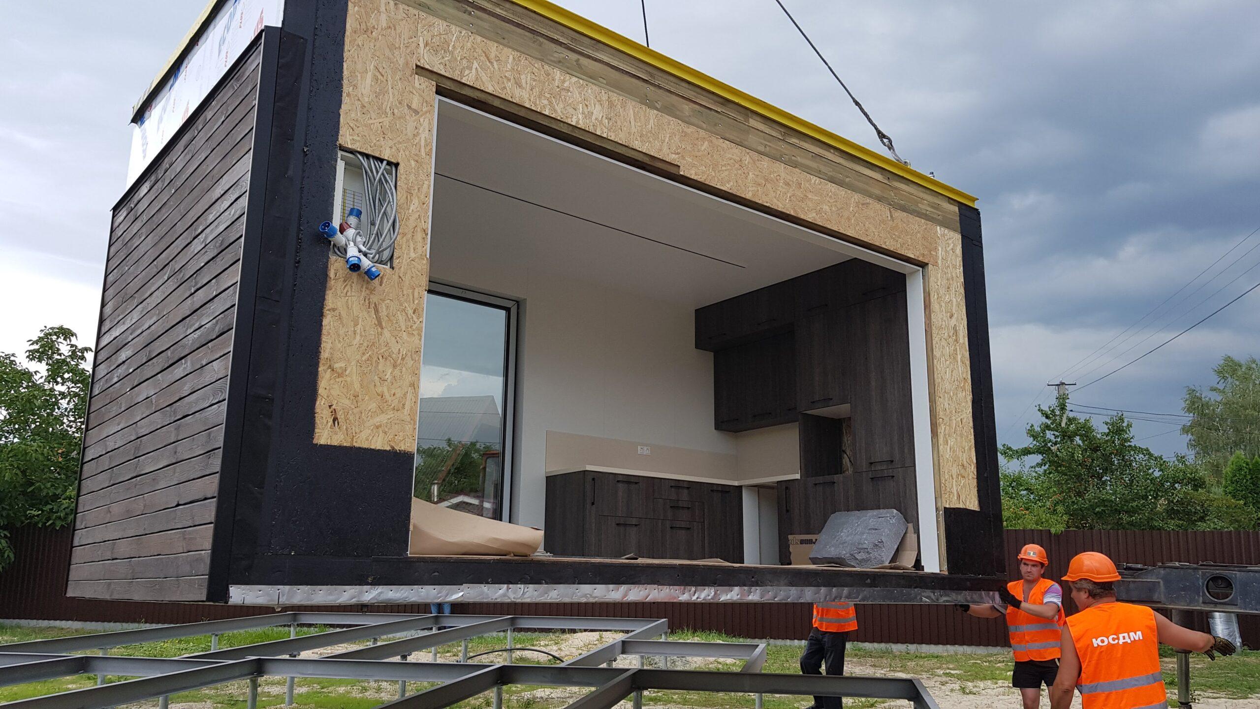 монтаж модульних будинків module house